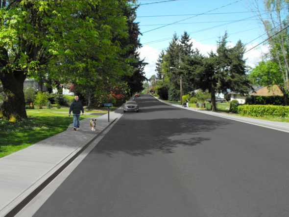 Proposed Sidewalk No Stripe