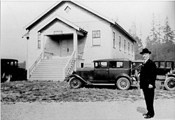 Angle Lake Presbyterian Church with Rev. John Bushnell, 1920's