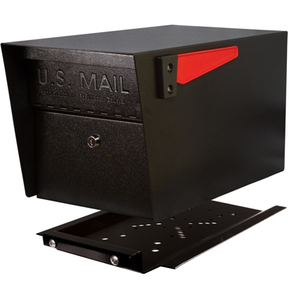 black locking mailbox