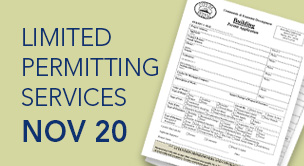 Limited permitting services on November 20