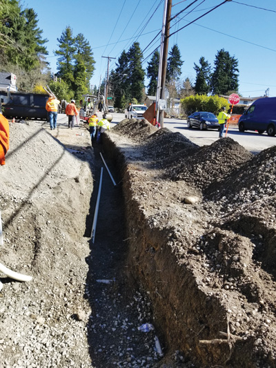 Laying Cable Conduit on DMMD & S 200th